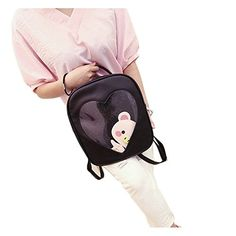 a28dc91147 Naray Candy Color Fashion College Backpack Heart Transparent Shoulders Bag  Black   Want additional info