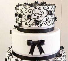 casal bolos casamento preto - Pesquisa Google