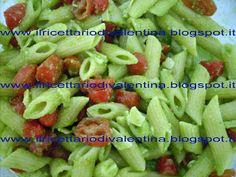pasta fredda 4P: penne, pesto, pomodorini, parmigiano.... gustosa fresca e dietica