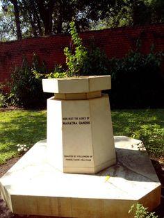 Ashes of Mahatma Gandhi at Agakhan Palace Pune