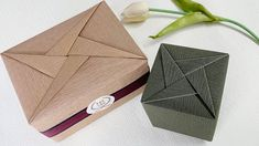 Gift Wrapping   How To Wrapping A Gift Box - Gift Wrapping Design ( geom... Origami And Kirigami, Origami Paper Art, Money Origami, Origami Box, Gift Wrapping Bows, Gift Wraping, Present Wrapping, Diy Crafts For Gifts, Diy Craft Projects