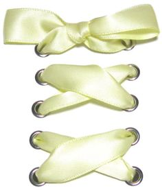 "5/8"" Wide Butter Satin Ribbon Shoelaces ✿ Our beautiful ribbon shoelaces make your ordinary shoes look extraordinary ✿"