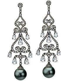 Tahitian Pearl Chandelier Earrings   Cellini Jewelers