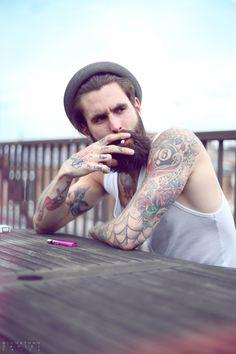 All the bearded men - Ricki Hall: Kings Road, Londonf Moustache, Beard No Mustache, Beard Hat, Bearded Tattooed Men, Bearded Men, Tattooed Man, Bearded Lady, Ricki Hall, Boys With Tattoos