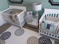 Project Nursery - Boy Twins Shared Nursery Arial View