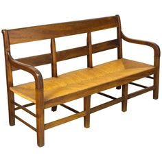 19th Century Country French Banquette or Settee | From a unique collection of antique and modern benches at https://www.1stdibs.com/furniture/seating/benches/