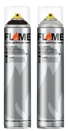 Flame Paint 600 ml    Ultra acrylic gloss paint in its 600 ml form, the black is really good for going over chrome.    http://www.writersbench.co.uk/spray-paint/Flame-Paint-600-ml.aspx