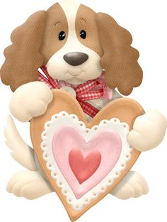 PUPPY WITH HEART CLIP ART