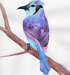 watercolor painting bird houses - Google Search