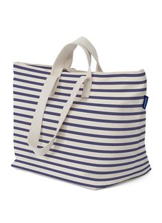 GORGEOUS sailor stripe baggu weekend tote. i love it, and can't wait to haul all my groceries back from the farmer's market in it!
