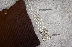 STRASS.com: DIY Rivets Sweater. #diy #strass #pullover #herbst #doityourself #swarovski