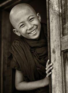 Buddhist novice #photography #happy #people
