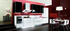 Black White Red Kitchen Ideas Google Search And