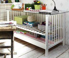 5 Things to Do with… Baby Cribs-http://www.bobvila.com/articles/repurposed-crib-ideas/?utm_source=buffer&utm_campaign=Buffer&utm_content=buffer7e6e5&utm_medium=facebook
