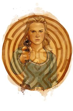 Westworld - The Centre by Phil Noto Comic Kunst, Comic Art, Westworld Hbo, Westworld Season 2, Dolores Abernathy, Phil Noto, Cultura Pop, Favorite Tv Shows, Book Art
