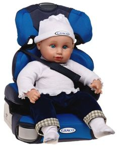 Joovy Baby Doll Booster Car Seat in Blue   isabella ...