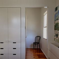 Built in robe wardrobe inspiration joinery storage WEST END COTTAGE