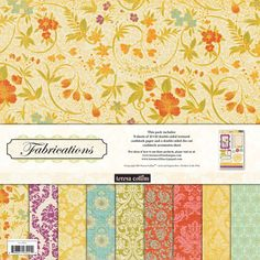Teresa Collins - Fabrications Collection - Canvas - 12 x 12 Paper and Accessories Pack at Scrapbook.com $9.99