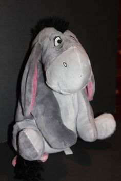 Disney Store Exclusive Rare Eeyore with Detachable Tail Plush Stuffed Animal  #Disney