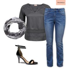 Check out 1 tunic - 3 styles #jeans #scarf