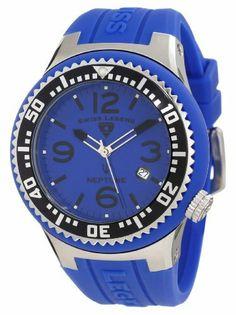 Swiss Legend Men's 21848P-03-BLBS Neptune Blue Dial Blue Silicone Watch Swiss Legend. $124.99. Save 68% Off!