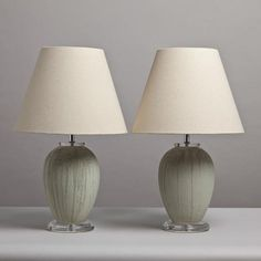 473px473px-A-Pair-of-Green-Ceramic-Lamps-on-Lucite-Bases-1970's.jpg