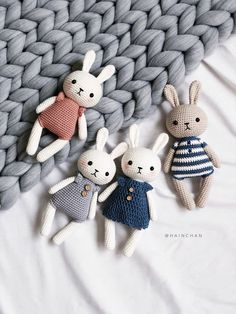 Combo 2 crochet pattern: Lucy the Bunny & Bunny Couple image 1 Crochet Bunny Pattern, Crochet Rabbit, Crochet Animal Patterns, Stuffed Animal Patterns, Crochet Patterns Amigurumi, Amigurumi Doll, Crochet Dolls, Crochet Animals, Easter Crochet