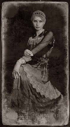 ~ Old Russian Photograph ~...I love the lacy skirt