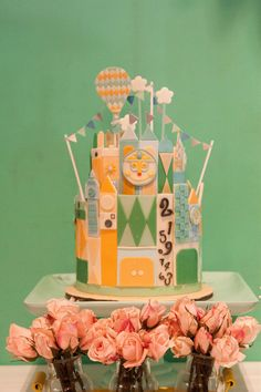 Cakes | It's A Small World After All! | Cottontail Cake Studio | Sugar Art & Pastries