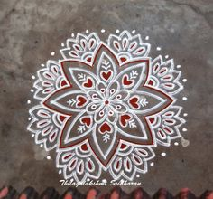 Simple Rangoli Designs Images, Rangoli Designs Flower, Rangoli Designs Latest, Rangoli Border Designs, Small Rangoli Design, Rangoli Designs With Dots, Rangoli Designs Diwali, Kolam Rangoli, Flower Rangoli