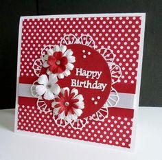 CAS431 ~ Polka Dot Birthday by sistersandie - Cards and Paper Crafts at Splitcoaststampers