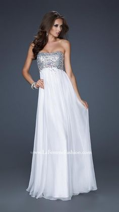 White La Femme 17058 Long Chiffon Prom DressesOutlet