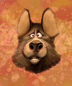 Cute Dog Character #dog #character ★ Find more at http://www.pinterest.com/competing/