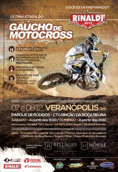 Final do Campeonato Gaúcho de Motocross. Veranópolis / RS. Dias 07 e 08 de dezembro.