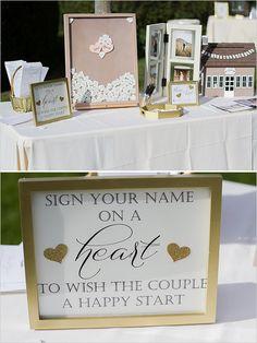 heart frame guest book @weddingchicks