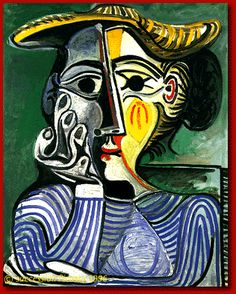 Woman with yellow hat (Jacqueline) - Pablo Picasso.  Professional Artist is the foremost business magazine for visual artists. Visit ProfessionalArtistMag.com.- www.professionalartistmag.com