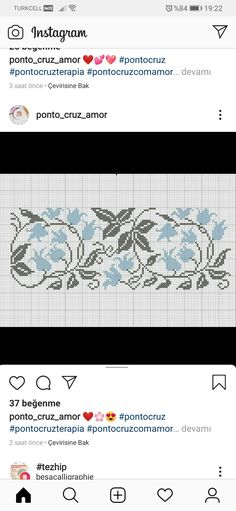 Crochet Stitches, Cross Stitch Embroidery, Alphabet, Stitching, Sewing, Board, Counted Cross Stitches, Cross Stitch Borders, Sewing Ideas