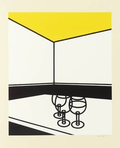 Black and White Cafe, 1972-3, Patrick Caulfield