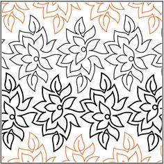 Poinsettia pantograph pattern by Patricia Ritter of Urban Elementz