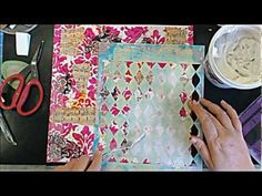 ▶ Aspen Mixed Media Canvas - YouTube...not sure i like the overall project but there are some great art journal techniques