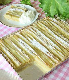(recipe in swedish) No Bake Desserts, Dessert Recipes, Rhubarb Recipes, Pavlova, How To Make Bread, Something Sweet, Sweet Tooth, Bakery, Good Food