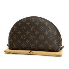 Louis Vuitton Trousse Demi Ronde 23  Monogram Small bags Brown Canvas M47520