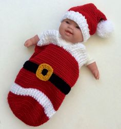 Baby Santa Cocoon by seechriscreate on Etsy