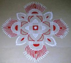 35 Best Mandala Rangoli designs to try - Wedandbeyond Indian Rangoli Designs, Simple Rangoli Designs Images, Rangoli Designs Latest, Rangoli Border Designs, Small Rangoli Design, Rangoli Patterns, Rangoli Ideas, Rangoli Designs With Dots, Kolam Rangoli