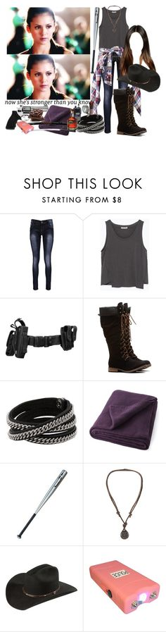 """""""Hayley Inspired Outfit [The Walking Dead]"""" by grandmasfood ❤ liked on Polyvore featuring Boohoo, Zara, Vita, Diane Von Furstenberg, Revolver, CO, Aéropostale and POLICE"""