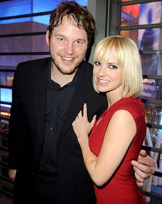 Anna Faris and Chris Pratt by http://www.wikilove.com