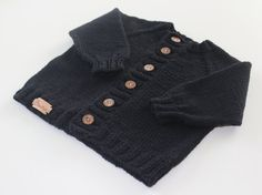Hand knitted baby sweater. Merino wool sweater. Knitted by DewKnit