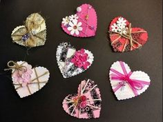 Mixed Media Heart Embellishments