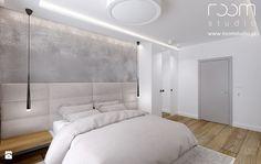 Sypialnia styl Minimalistyczny - zdjęcie od ROOM STUDIO - Sypialnia - Styl Minimalistyczny - ROOM STUDIO Architecture Design, New Homes, Bedroom, Furniture, Studio, Home Decor, House Ideas, Townhouse, Bedrooms