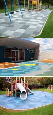 Playground Safety Surfacing, durable safety tiles